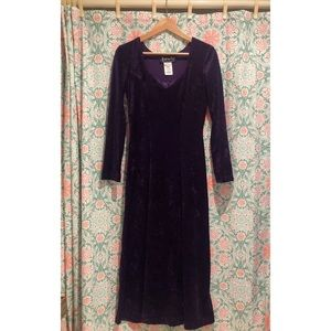 ALL THAT JAZZ 1990's velvet purple theater dress